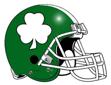 White Shamrock Fantasy Football Helmet