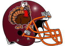 Angry Turkey Fantasy Football Helmet Logo