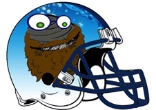 Bearded Clam Fantasy Football Helmet Logo