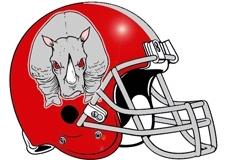 Rhinos Fantasy Football Helmet Logo