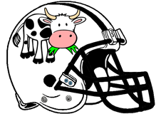 Dairy Cow Fantasy Football Helmet Logo