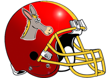 Donkeys Fantasy Football Helmet Logo