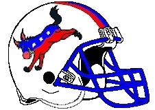 Democrat Donkey Fantasy Football Helmet Logo