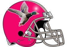 Mallard Duck Fantasy Football Helmet Logo