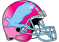 Blue Falcons Fantasy Football Helmet Logo