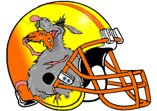Fat Rat Fantasy Football Helmet Logo