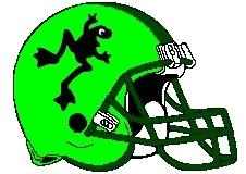 Frog Fantasy Football Helmet Logo