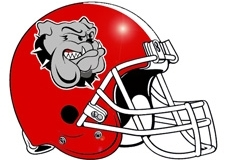Georgia Bulldogs Fantasy Football Helmet Logo
