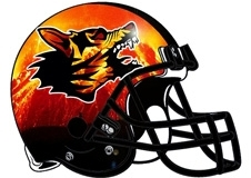 Hellhounds Fantasy Football Helmet Logo