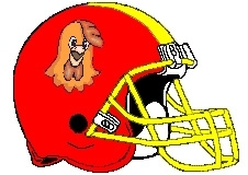 Chicken Fantasy Football Helmet Logo