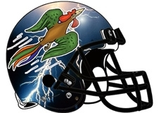 Lightning Chicken Fantasy Football Helmet Logo