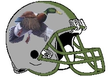 Mallards Fantasy Football Helmet Logo
