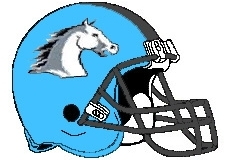 Mustangs Fantasy Football Helmet Logo
