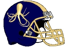 Octopus Fantasy Football Helmet Logo