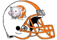 Piggy Bank Fantasy Football Helmet Logo