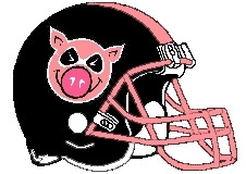 Cool Pigs Fantasy Football Helmet Logo