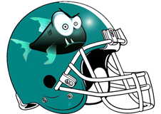Piranha Fantasy Football Helmet Logo