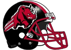 Red Rhino Fantasy Football Helmet Logo