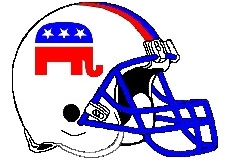 Republican Elephant Fantasy Football Helmet Logo