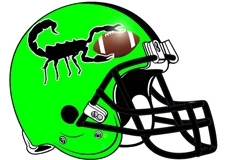 Scorpion Fantasy Football Helmet Logo