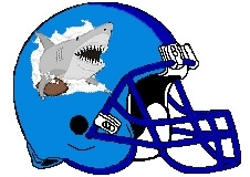 Sharks Fantasy Football Helmet Logo