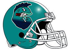Pirahna Fantasy Football Helmet Logo