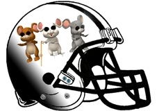Three Blind Mice Fantasy Football Helmet Logo