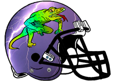 Thunder Lizard Fantasy Football Helmet Logo