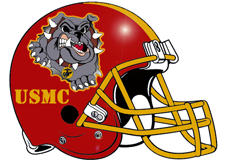 USMC Devil Dog Fantasy Football Helmet Logo