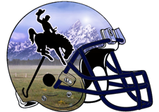 Riding Bronc Fantasy Football Helmet Logo