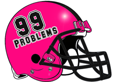 99 Problems Fantasy Football Helmet