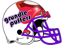 Grundle Puffers Fantasy Football Helmet Logo
