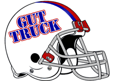 Gut Truck Fantasy Football Logo Helmet