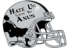 Hate Us Cause You Anus Fantasy Football Helmet