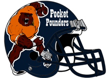 Pocket Pounders Fantasy Football Helmet Logo