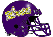 The 1 and Only Fantasy Football Helmet Logo