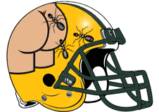 Butt Marching Ants Fantasy Football Helmet Logo