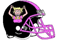 Crazy Lady Fantasy Football Logo Helmet