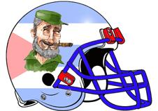 fidel-castro-fantasy-football-helmet