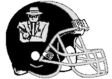 Gangsters Fantasy Football Logo Helmet