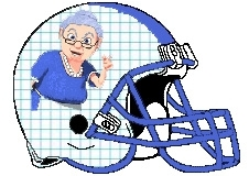 Grannies Fantasy Football Logo Helmet