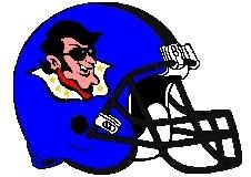 Hound Dogs Fantasy Football Logo Helmet
