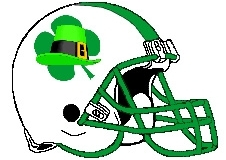 Lucky Irish Fantasy Football Logo Helmet