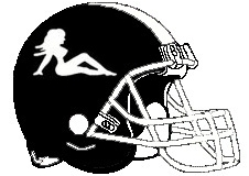 Mud Flaps Fantasy Football Logo Helmet