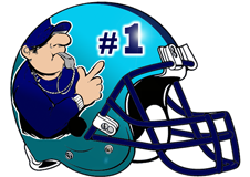 Number 1 Coach Fantasy Football Helmet Logo