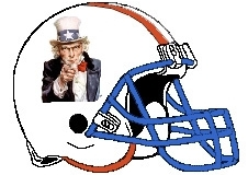 Uncle Sam Fantasy Football Logo Helmet
