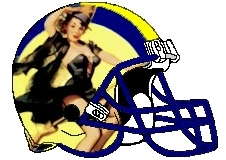 Witch Pin-up Fantasy Football Logo Helmet