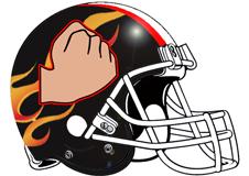 flaming-fist-fantasy-football-helmet