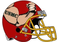 USMC Flexing Bicep Fantasy Football Helmet